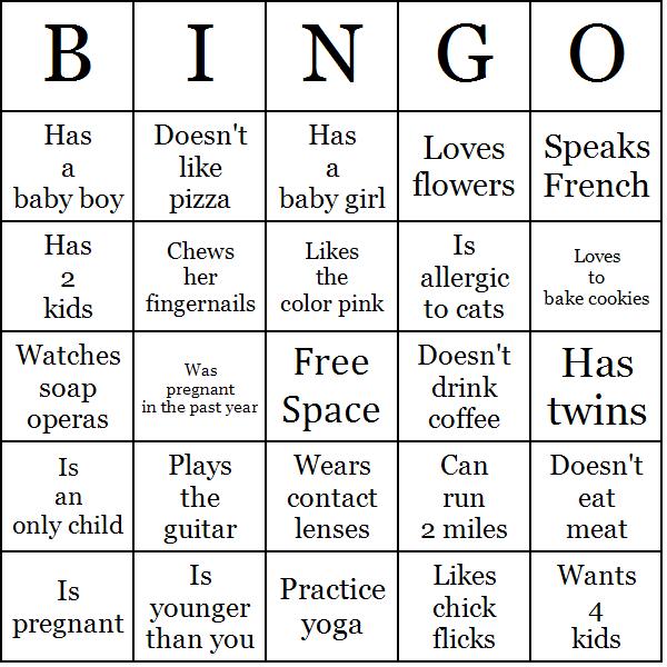Bingo Icebreaker Game Template – Sample Bingo Card Template
