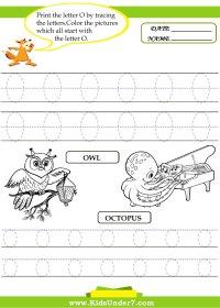letter o worksheets - letter o worksheets for preschool ...