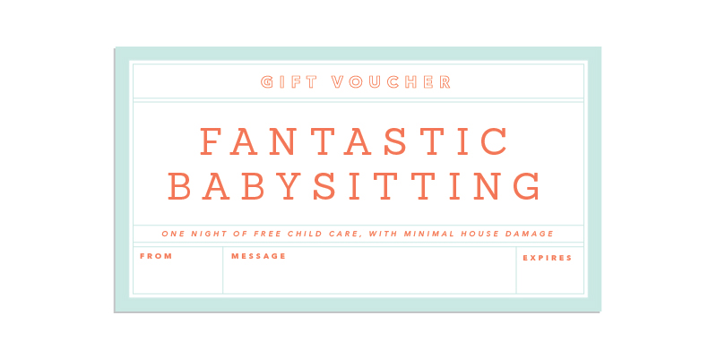 Babysitting Voucher Template Free | Sample Resume Service