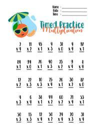 Timed Multiplication Worksheets Free Worksheets Library ...