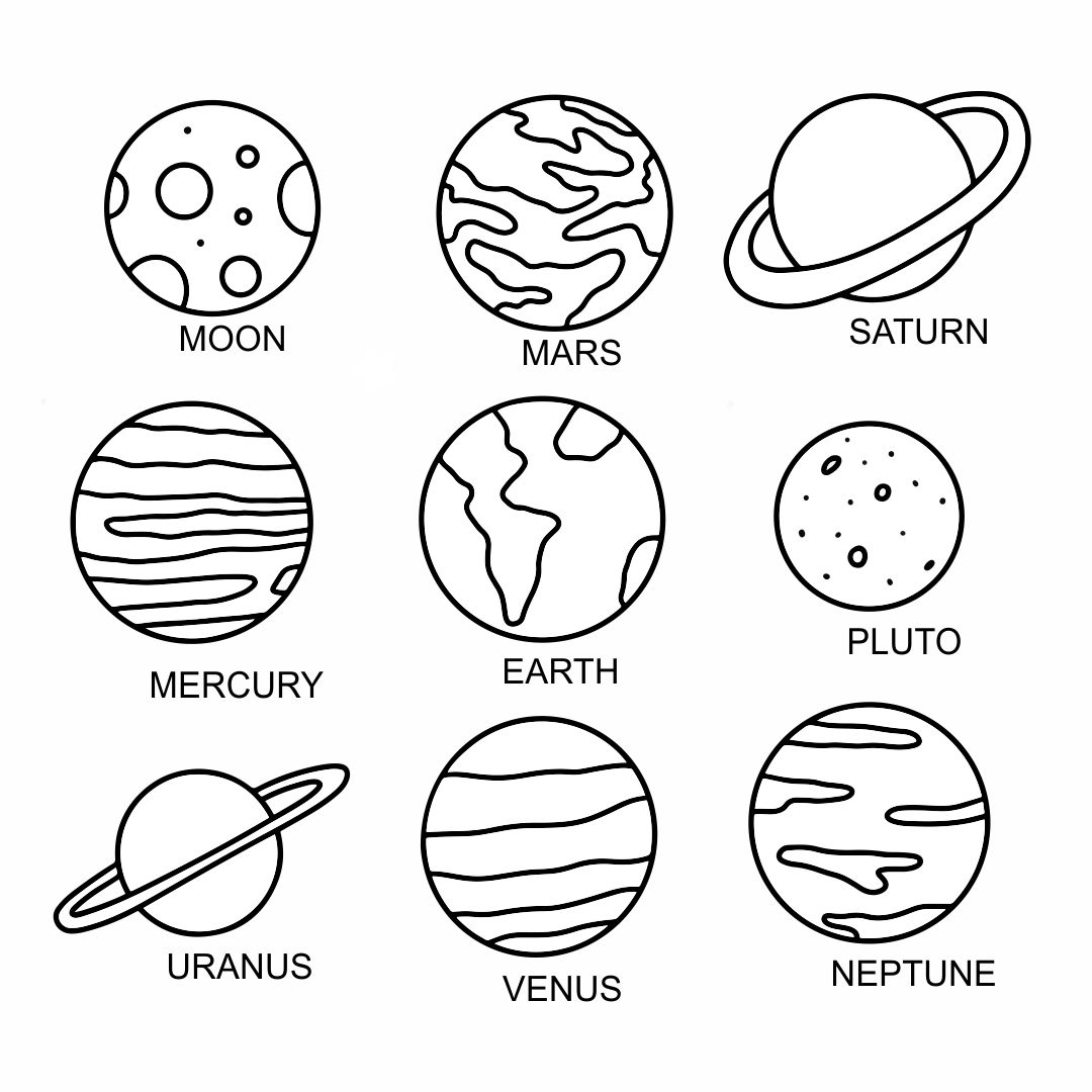 Printable Solar System Cut Outs