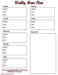 Printables. Meal Planning Worksheet. Lemonlilyfestival ...
