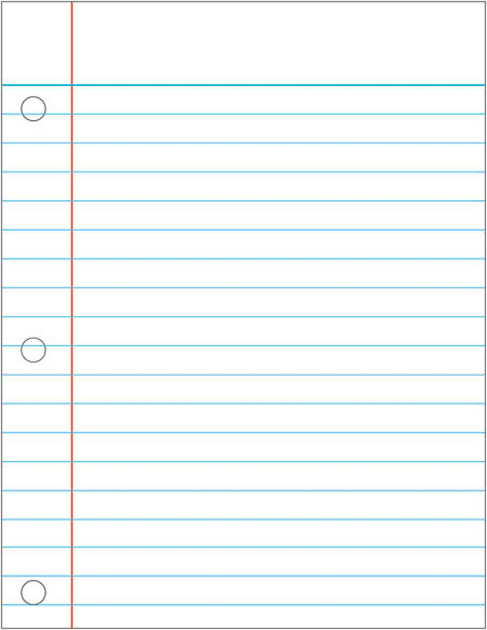 Doc12241584 College Ruled Lined Paper Template The Lined – Printable Wide Ruled Paper