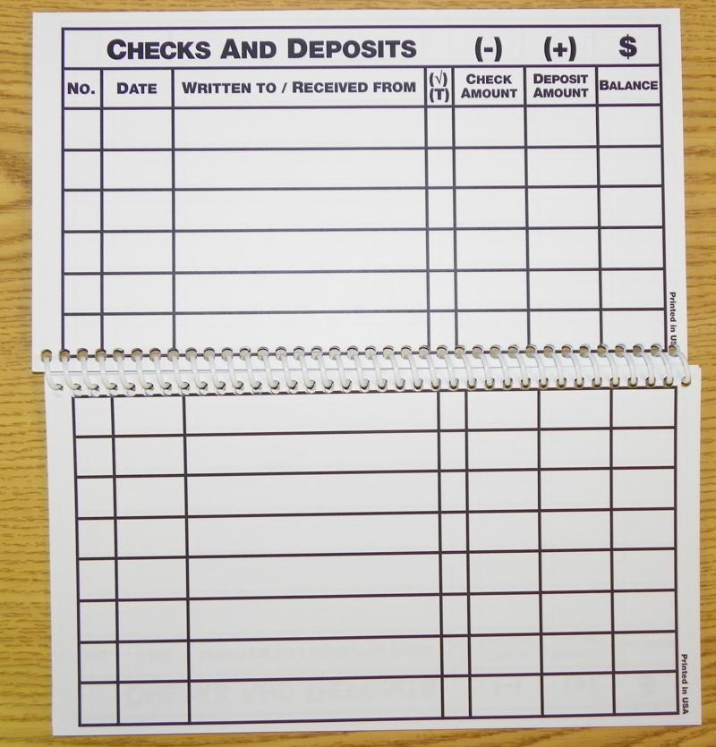Blank Checkbook Register Printable Free Calendar Template  How To