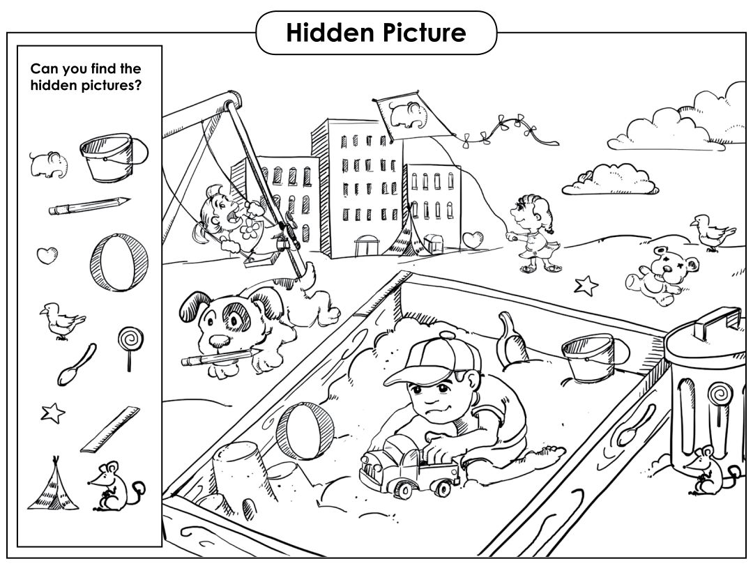 Find The Hidden Objects Printable. download this free