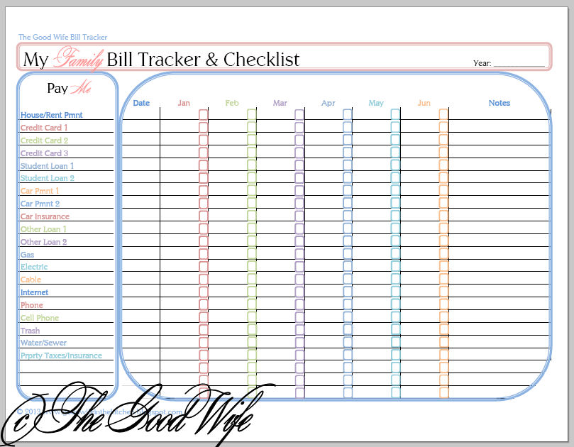 4 Best Images Of Printable Bill Payment Worksheet Bill