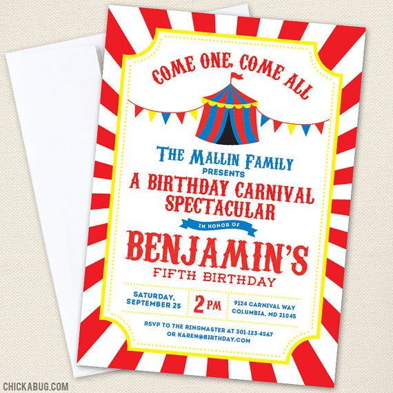6 Best Images Of Carnival Party Invitations Free Printable