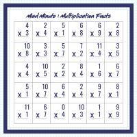 Mad Minute Math Worksheets