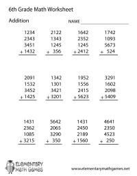 Common Core 6th Grade Math Worksheets - 3rd grade 4th math ...