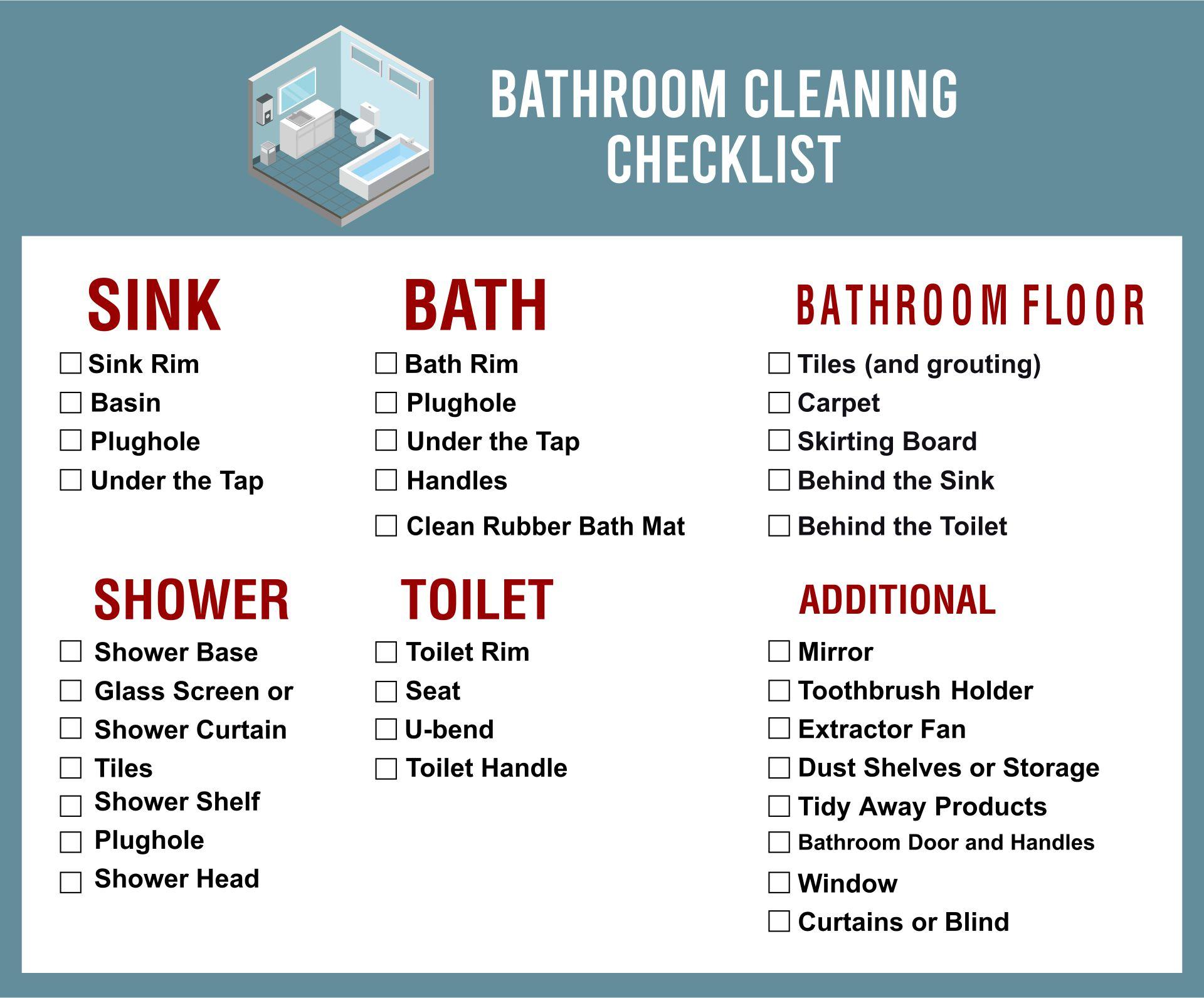 restroom cleaning schedule printable download