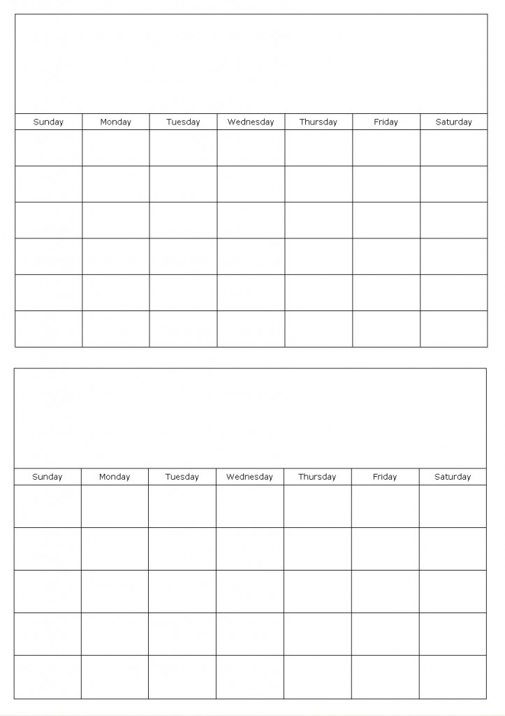 Blank Calendar Template  Months Per Page  Sample Resume For