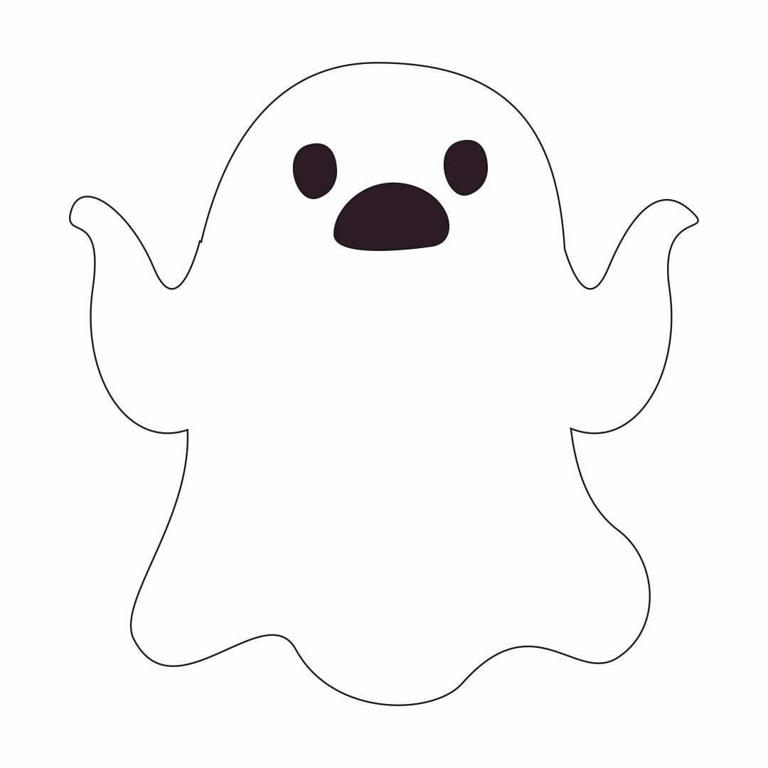 Cute Ghost Face Templates - Erieairfair