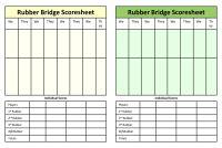 Canasta Score Sheet | Bridge Score Sheets Template Canasta Score Sheet Template