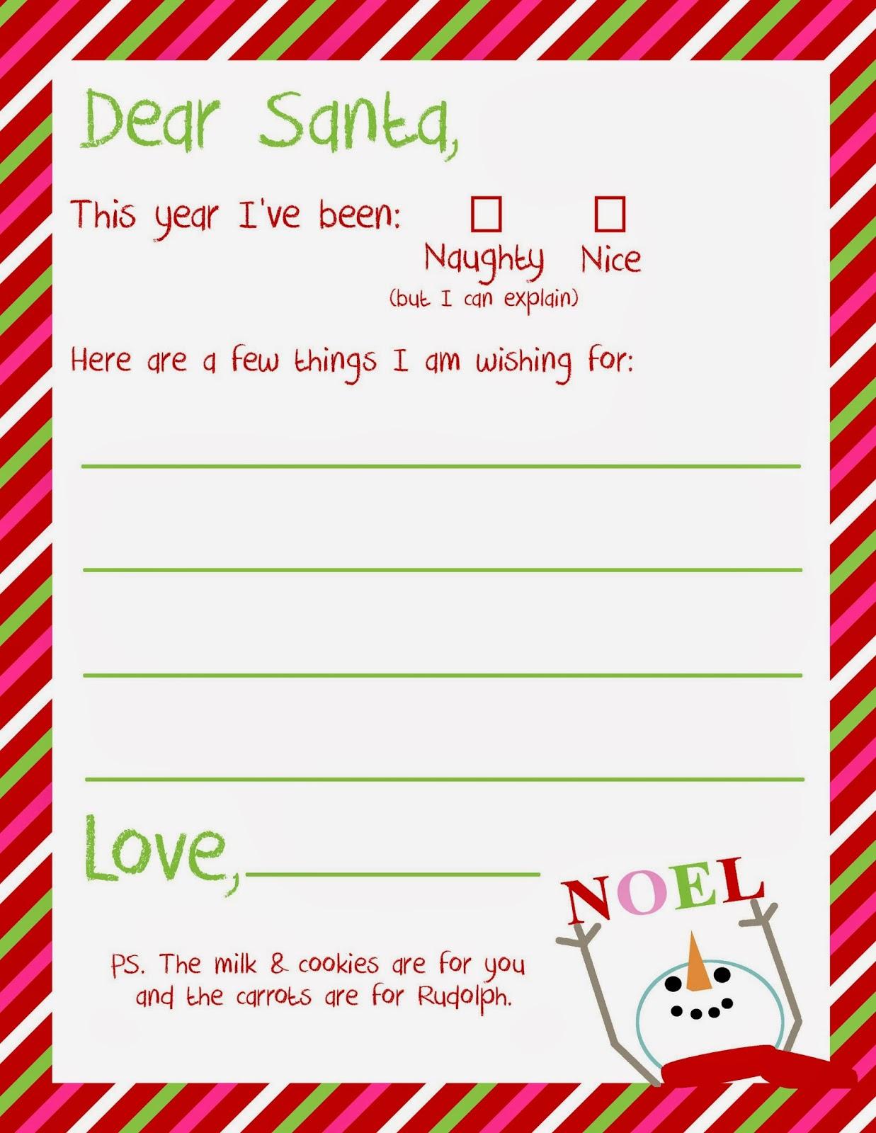 Letter To Santa Template Free Printable Example Good Resume Template - Letter to santa template free printable