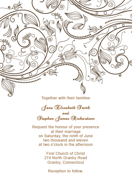 Vintage Flourishes Wedding Invitation Template ← Wedding Invitation