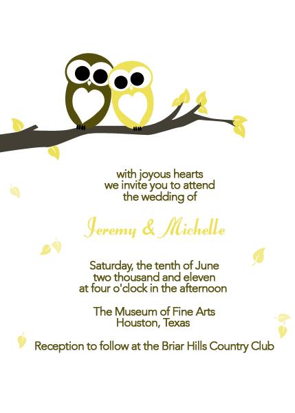 Love Owls Wedding Invitation ← Wedding Invitation Templates