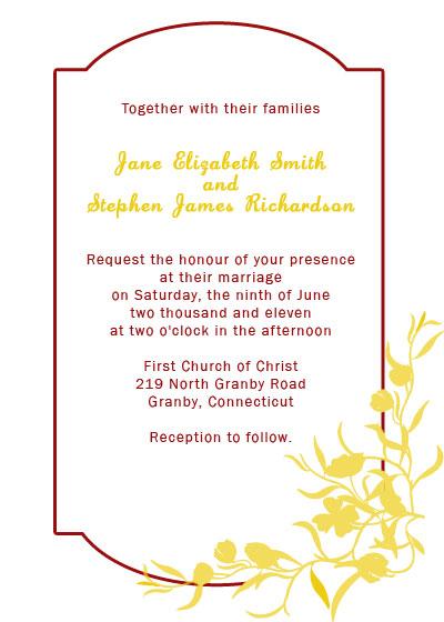 Elegant Wedding Invitation with Floral Border ← Wedding Invitation