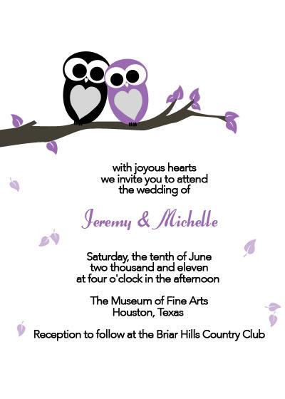 Love Owls Printable Wedding Invitation ← Wedding Invitation