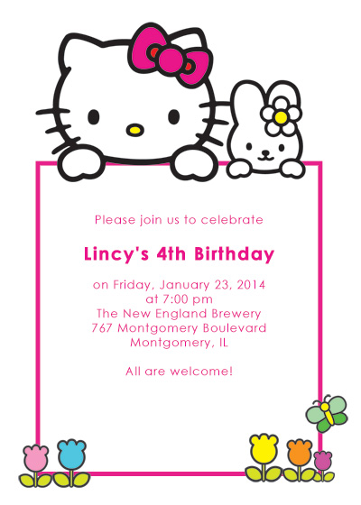 Hello Kitty Free Birthday Invitation ← Wedding Invitation Templates