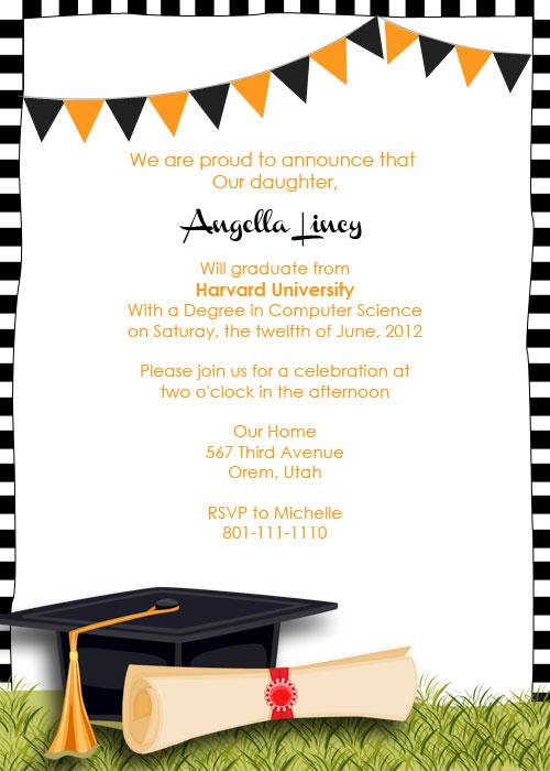graduation party invitation templates free - senior party invitations