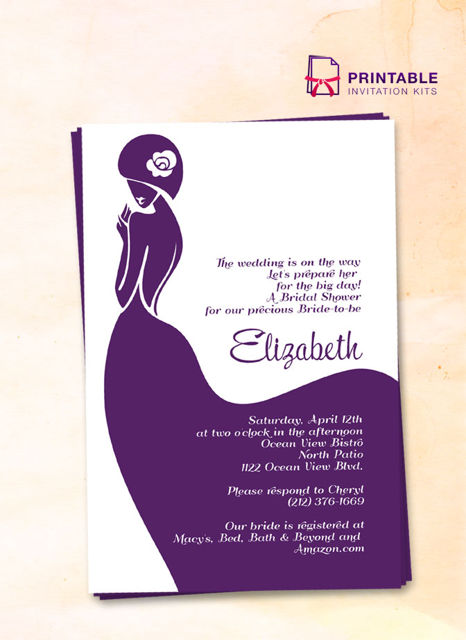 Bridal Shower Invitation \u2013 Lady Bride ← Wedding Invitation