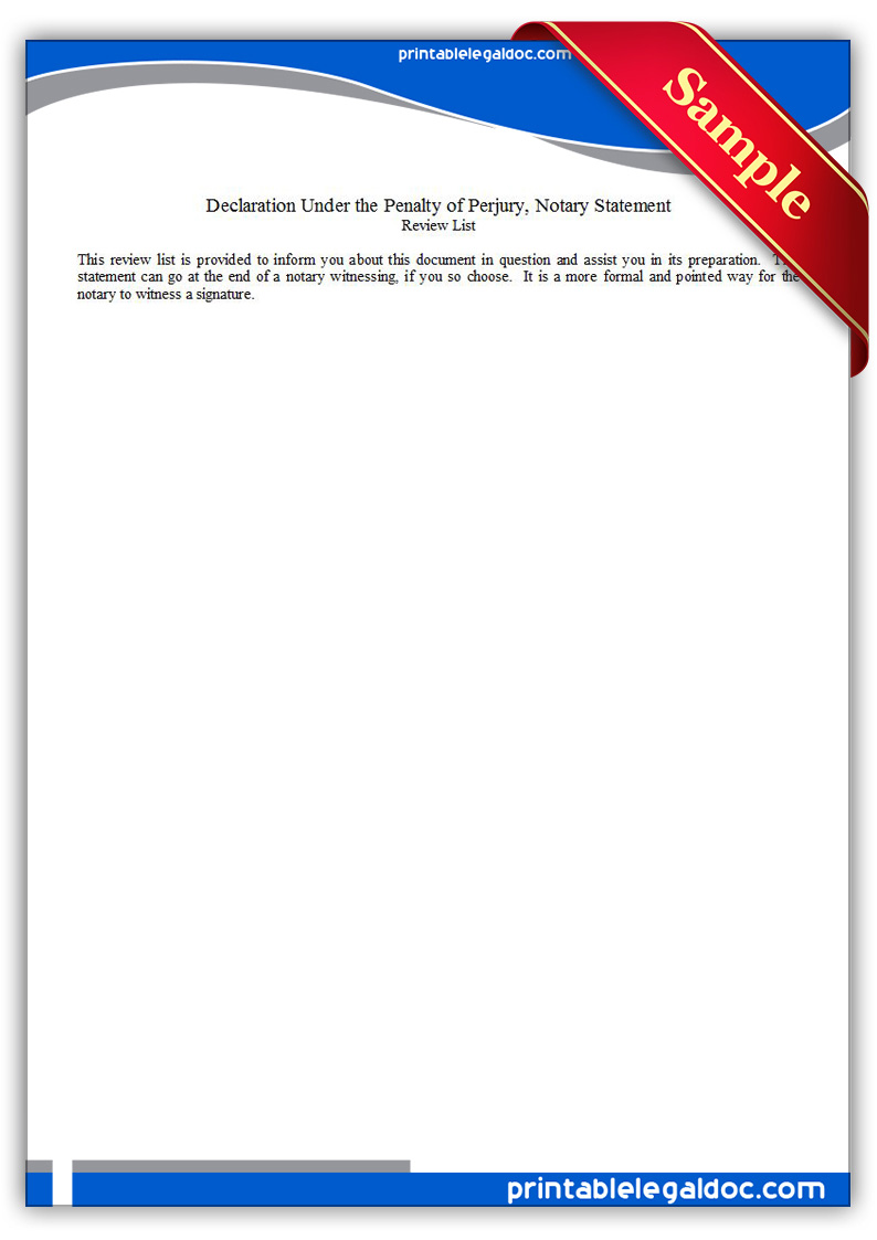 40 Personal Financial Statement Templates Forms Free Printable Declaration Under The Penalty Of Perjury