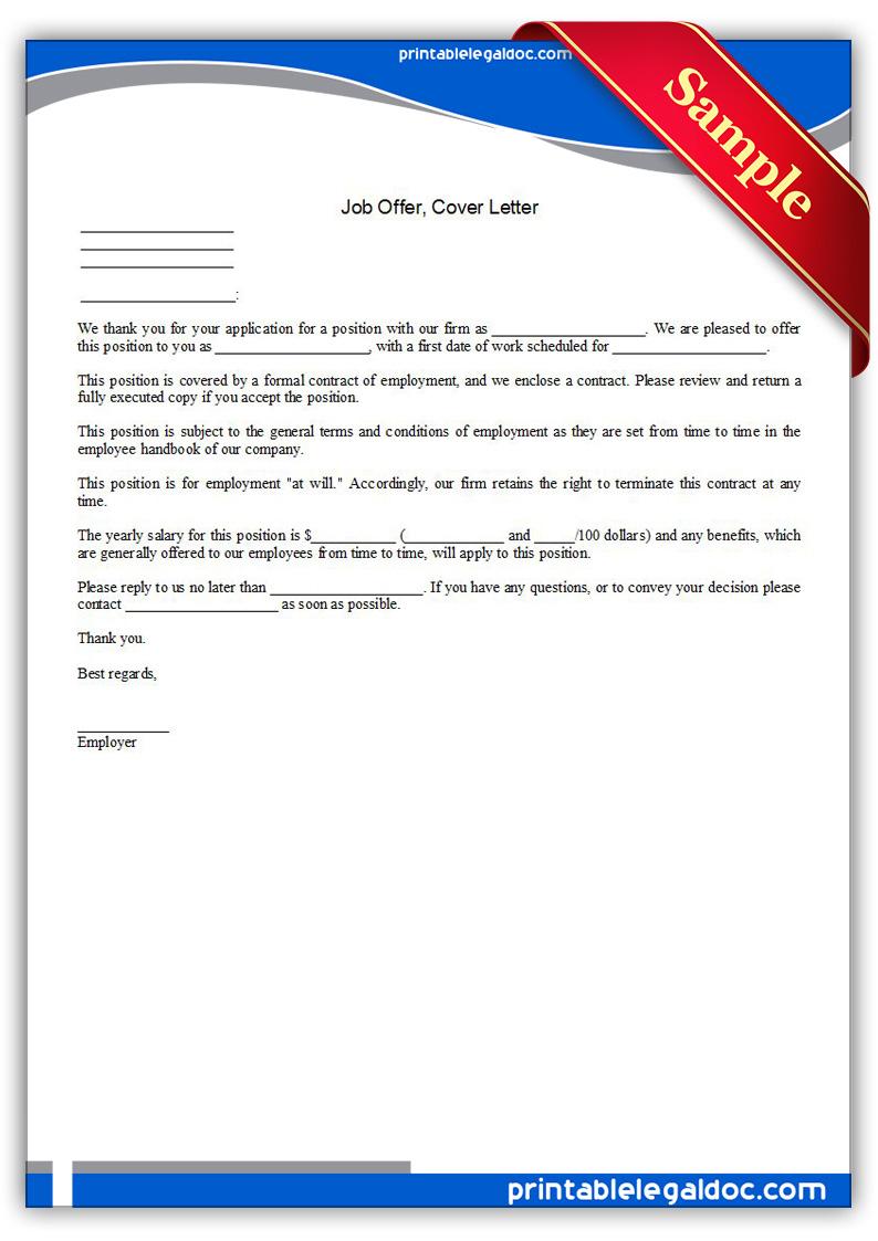 cover letter for job offer