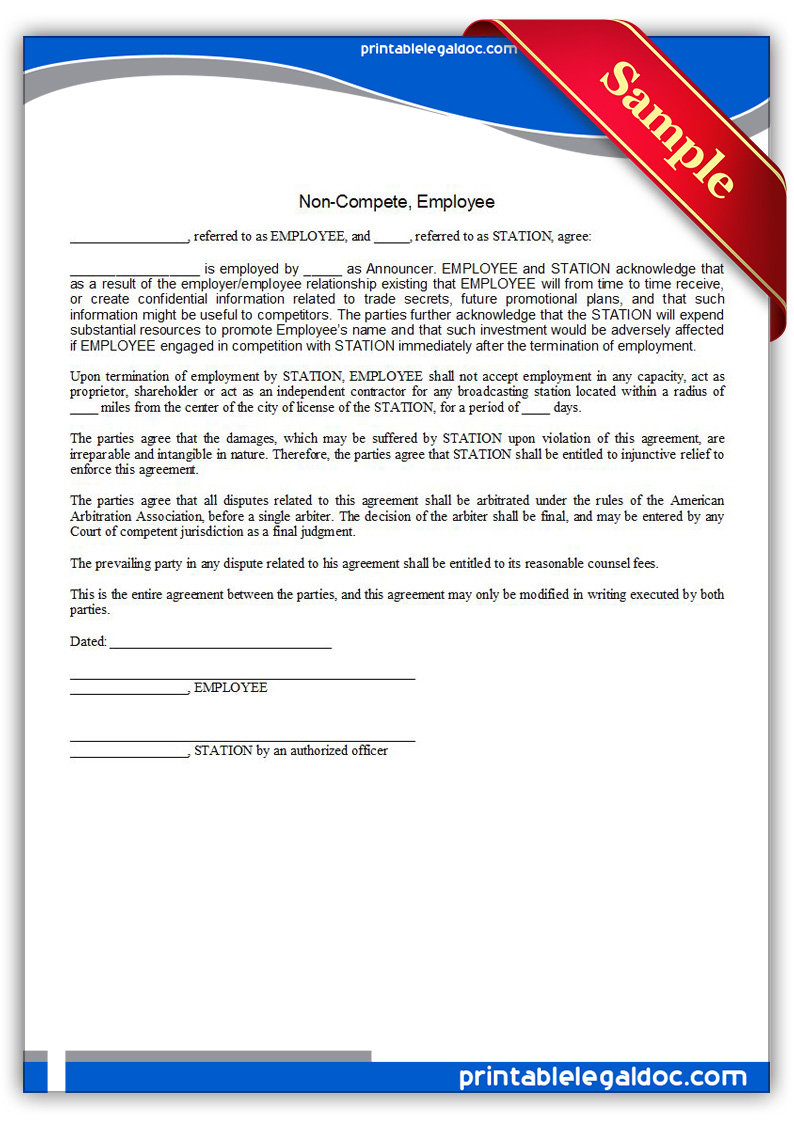non compete form template sample resume service non compete form template non disclosure and non compete agreement template doc format here docx