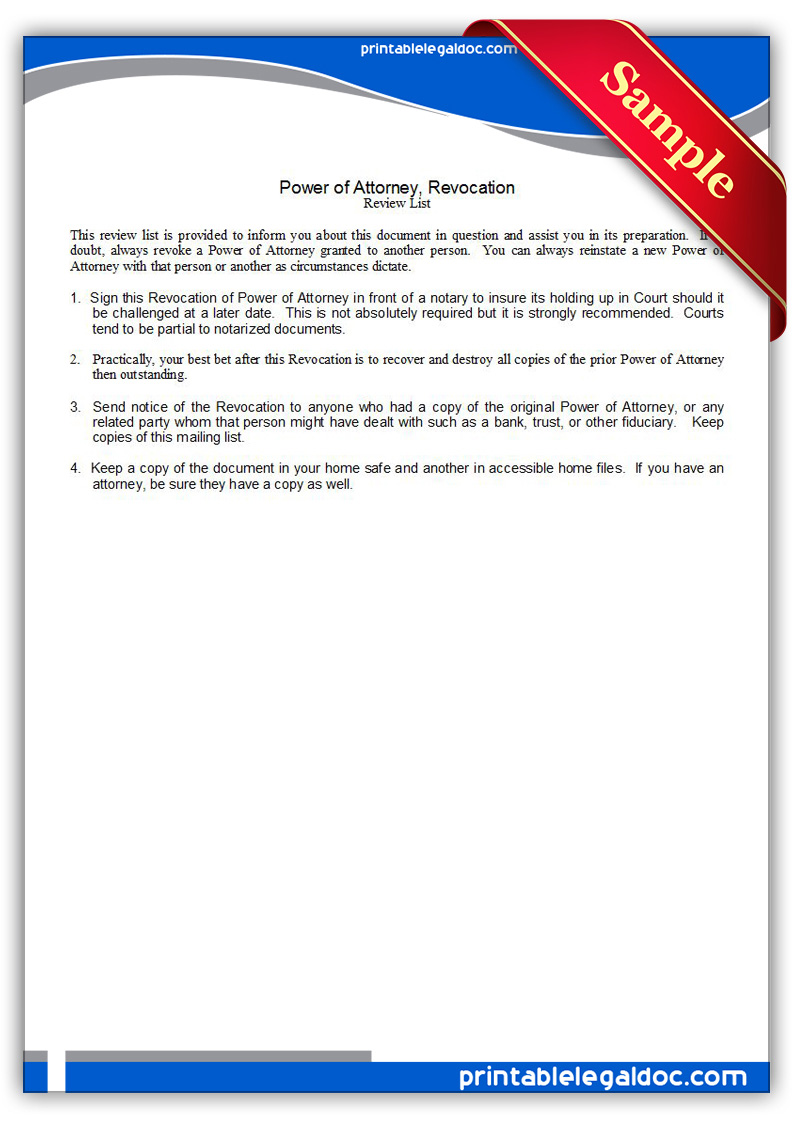 Free Printable Power Of Attorney Form Alabama | Resume Maker ...