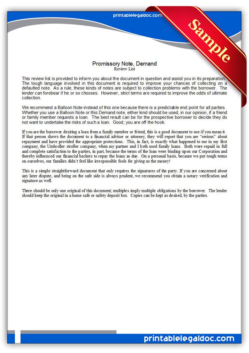 Promissory Note Word 8 free promissory note template word – Promissory Note Word Document