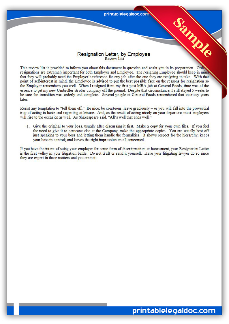 Exit Letter To Employer – Employer Resignation Letter to Employee