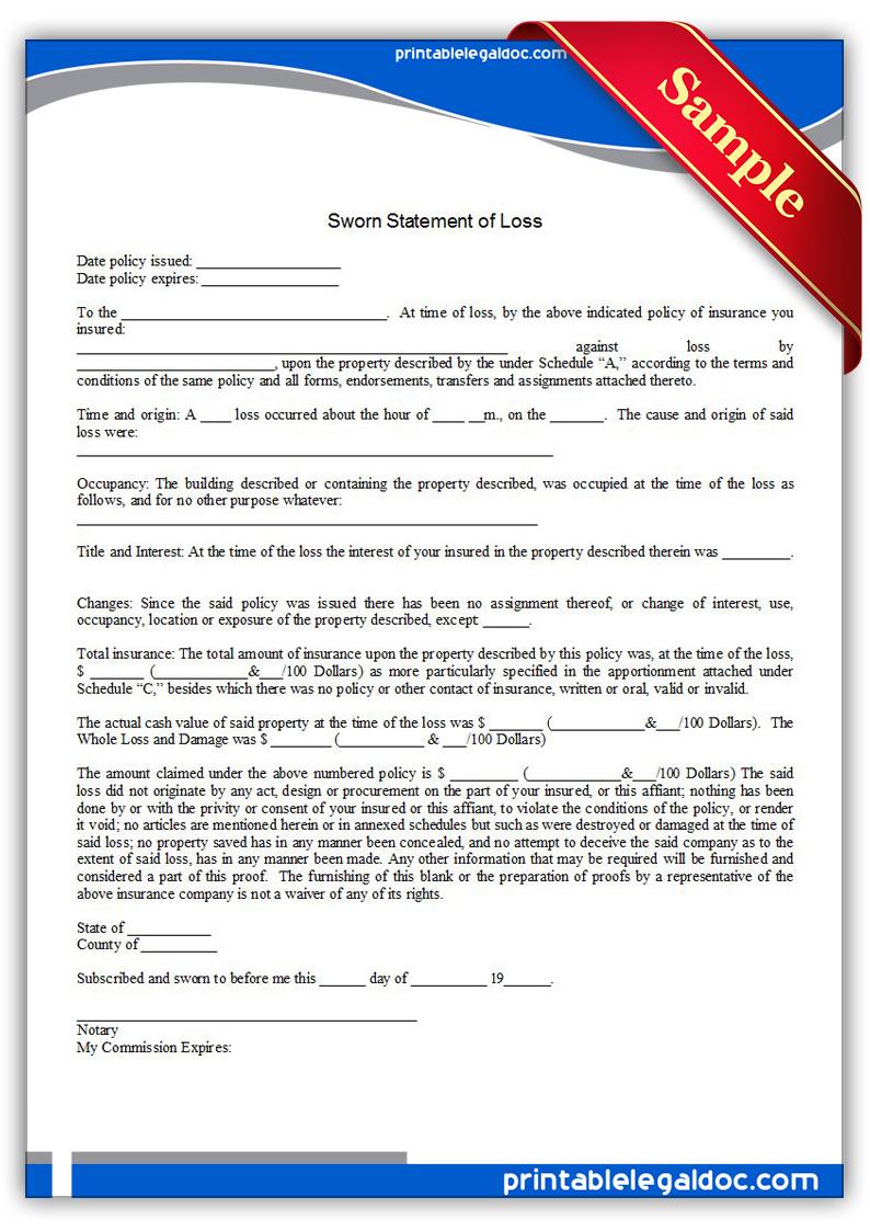 Sample Form Affidavit Of Loss – General Affidavit Sample