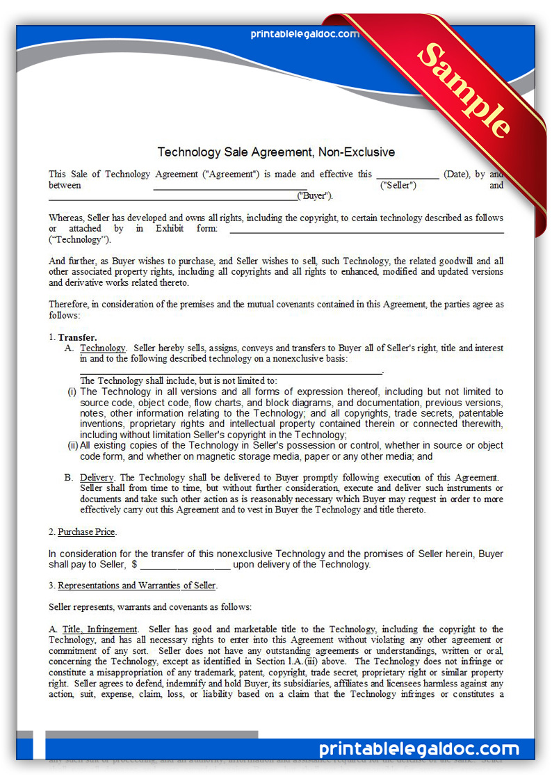 Debt Settlement Agreement Letter Sample 1 Debtcc Free Printable Technology Sale Agreement Non Exclusive