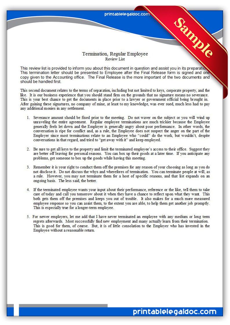 termination of employment form letter cover letter termination of employment form letter writing employment termination letters examples printable termination regular