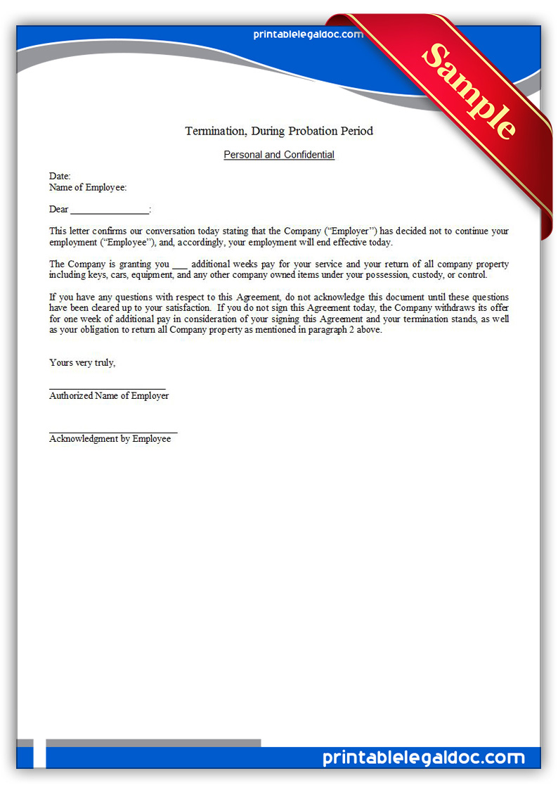 Sample Employment Termination Contract Findlaw Free Printable Termination Regular Employee Form Generic