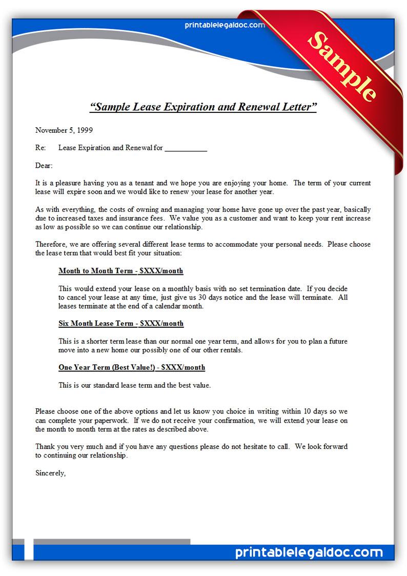 no renewal lease letter