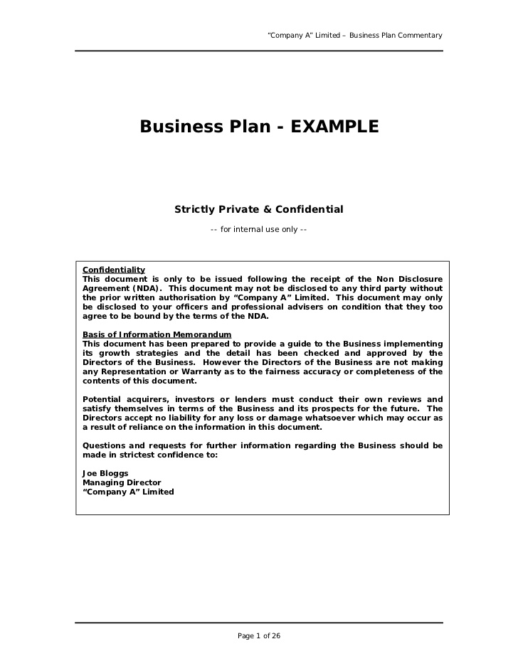 form of ownership in a business plan