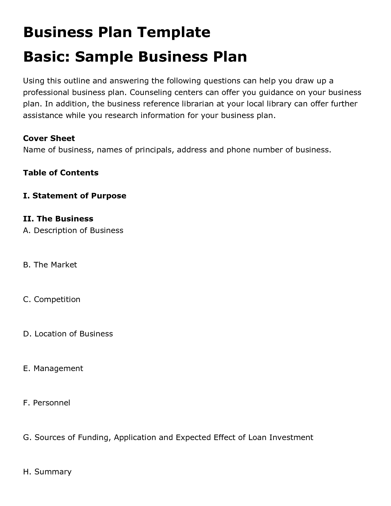 Business Plan Proposal Doc – Sample Business Proposal Document
