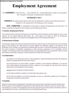 Free Employment Termination Letter Lawdepot Free Printable Employment Contract Sample Form Generic