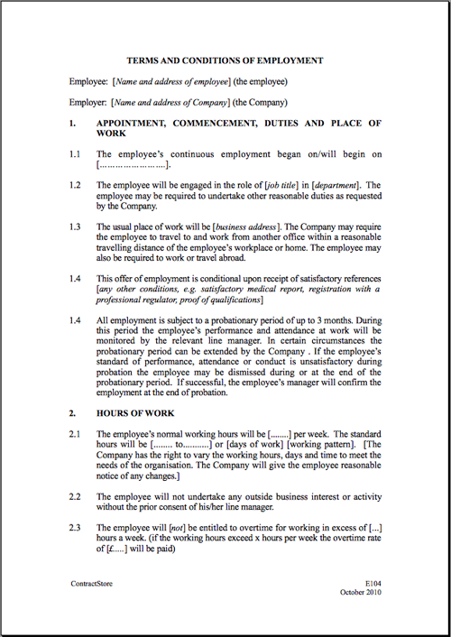 Free Employee Warning Letter Lawdepot Employment Contract Template Cyberuse