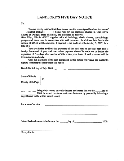 Free Printable Eviction Notice Form (GENERIC)