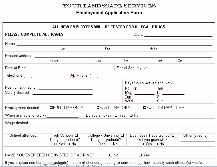 Free Printable Lawn Service Contract Form (GENERIC) - service contract form