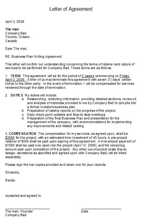 Free Printable Letter of Agreement Form (GENERIC) - letter of agreement