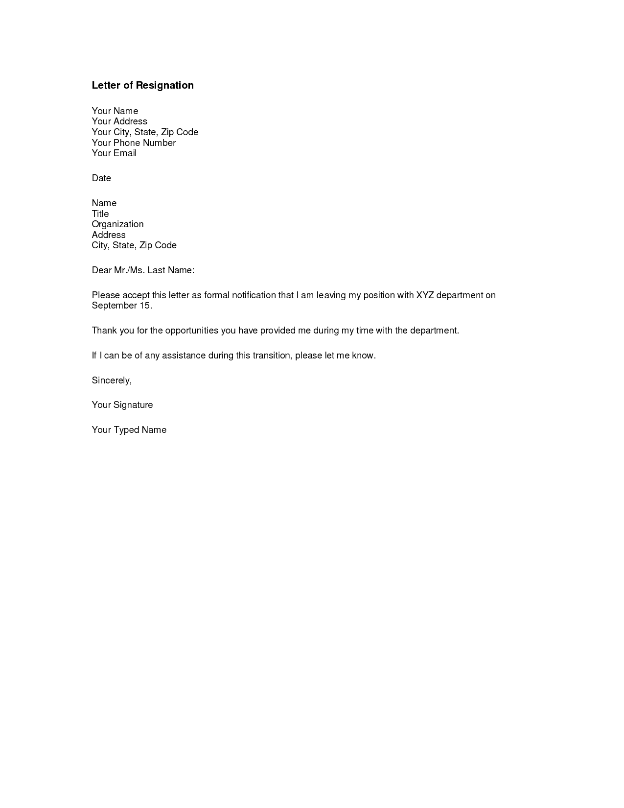 resignation letter template banking professional resume cover resignation letter template banking formal letter sample template layout printable letter of resignation form generic