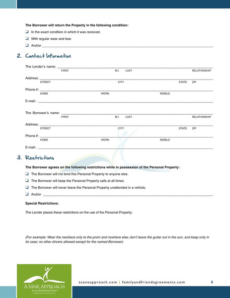 Simple Form Of Loan Agreement – Loan Agreement Form Free