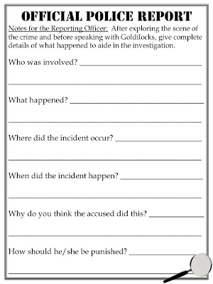 Free Printable Police Report Template Form (GENERIC)