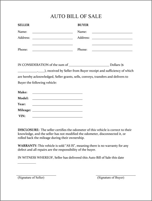 Wisconsin Bill Of Sale Form Requirements Dmvorg Free Printable Rv Bill Of Sale Form Form Generic