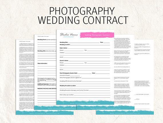 Free Printable Wedding Photography Contract Template Form (GENERIC) - photography contract template