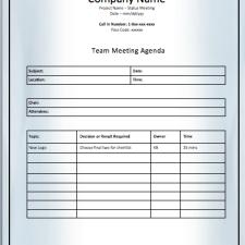 team meeting agenda printable meeting agenda templates. Black Bedroom Furniture Sets. Home Design Ideas