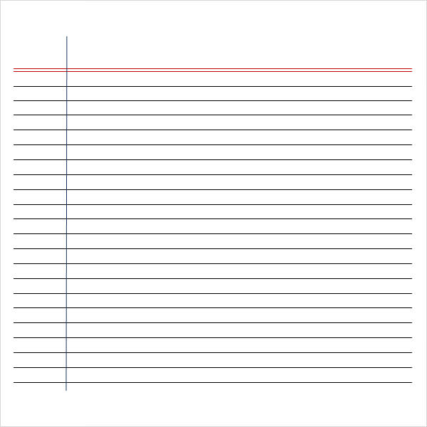 blank lined paper template - Idealvistalist - printable wide ruled paper
